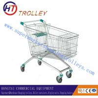 Wholesale Steel Wire Supermarket Four Wheeled Shopping Carts For Walmart European Style from china suppliers