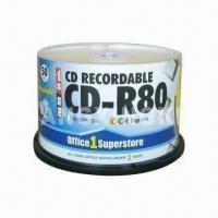 Wholesale Printed CD-R with 50-piece Cake Box Pack, Made of Virgin Material, OEM Services Provided from china suppliers