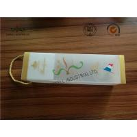 Wholesale Frosted At Surface Cardboard Food Packaging Boxes With String , Wine PVC Gift Boxes from china suppliers