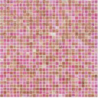 Wholesale Cute pink with little brown 10mm glass mosaic mix pattern for girl room from china suppliers