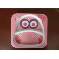 Wholesale Cute Square Melamine Plates Custom Cartoon Printing With Rice Husk Natural Fiber Material from china suppliers