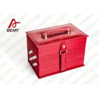 Wholesale Closed Red Round Makeup Customized Paper Box With Handle & Mirror from china suppliers