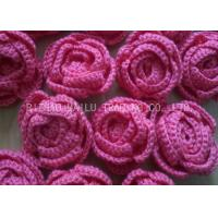 Wholesale Customized Crochet Accessories Red And Blue Crochet Rose Flower For Decorative from china suppliers
