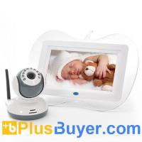 Wholesale 2.4GHz Wireless Baby Monitor + Night Vision Camera Set (7 Inch, Two Way Intercom) from china suppliers