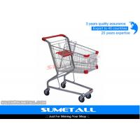 Wholesale Steel 4 Wheels Small Grocery Shopping Carts For Supermarket 3 Years Warranty from china suppliers