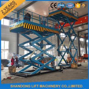 Wholesale 5 T Stationary Hydraulic Heavy Duty Scissor Lift , Hydraulic Work Platform Lift from china suppliers