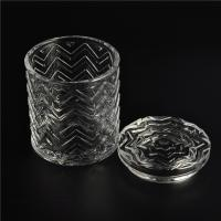 Wholesale Clear home decoration extra large glass candle holders with glass lid from china suppliers