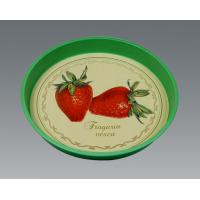 Wholesale Customized Gavanlized Tinplate Round Tin Tray With Printing from china suppliers