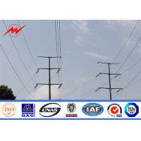 Wholesale Anticorrosive 14m 500Dan Steel Power Pole For Power Transmission Electric Line from china suppliers