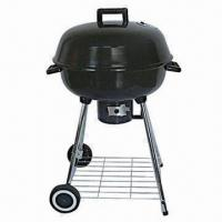 Wholesale Apple Charcoal BBQ Grill/SS Kettle Round Grill with Chrome Plated from china suppliers