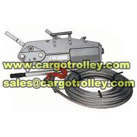 China Wire rope pulling hoist application and pictures on sale
