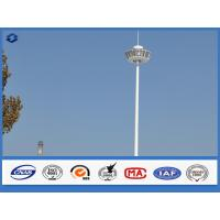 Wholesale 15m - 50m White Powder Coated High Mast Light Pole Over 30 years Service life from china suppliers