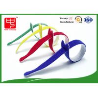 Wholesale Multi Colored Velcro Cable Ties Roll , Hook & Loop Fastening Cable Ties T Shape from china suppliers