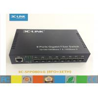 Wholesale Mini Switch 8-9 ports Gigabit Ethernet Optical Fiber Switch with eight SFP ports from china suppliers