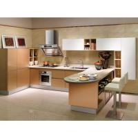 Wholesale Waterproof Villa Grey Laminate Kitchen Cabinets Cherry Wood With Invisible Handle from china suppliers