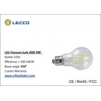 Wholesale 4 Watt Filament Led Light Bulbs E27 Glass Cover 6000K Color Temperature from china suppliers