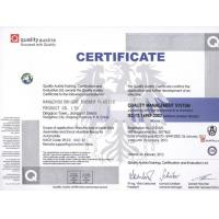 Hangzhou Bright Rubber Plastic Product Co., Ltd Certifications