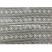 Wholesale White Lace Embroidered Fabric / Clothes Cotton Lace Trim Diamond - Shaped from china suppliers