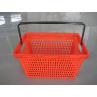 Wholesale Red Supermarket Plastic Shopping Basket Single Handle Flat - bottomed from china suppliers