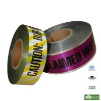 Wholesale Customized Aluminum foil PE Buried Underground Detectable Warning Tape from china suppliers