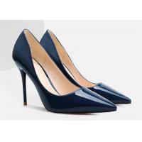 Wholesale Spring Autumn Womens High Heel Pumps Dark Blue Stiletto Shoes For Wedding from china suppliers