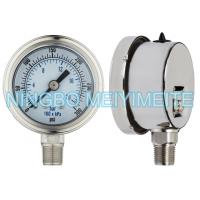 Wholesale bayonet bezel with stianless steel inernals, sealing connection, with oil cap, fillable gauge from china suppliers