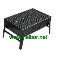Wholesale Portable Steel BBQ Grill in Black Color with Neutral Packaging Color Box In Stock from china suppliers