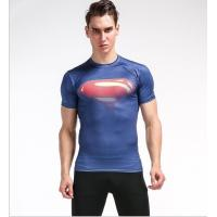 China Fast Recovery Mens Short Sleeve Compression Top 0.2kg PCS Gauge UV Protective for sale