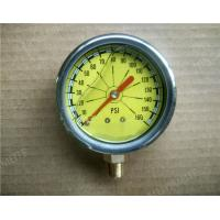 "Wholesale 2.5""  Liquid Filled Manometer , SS Pressure Gauge with 304 SS Case and Rubber cover from china suppliers"