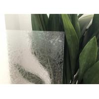 Wholesale Glue Chip Glass Patterns For Bathroom Windows Ultra Clear / Colored from china suppliers