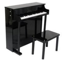 Wholesale Pretty Black Upright Mini Toy Wooden Toy Piano 37 Key For Toddlers U37A from china suppliers