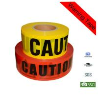 Wholesale 500m Length Red and Yellow Police Traffic Safety PE Custom Caution Tape from china suppliers