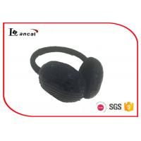 Wholesale Paillette On The Outer Black Fluffy Ear Muffs For Winter , Fleece Ear Warmers from china suppliers