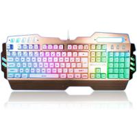 Wholesale Custom LED PC Gaming Keyboard Alumium Alloy Plate With ABS Plastic Base from china suppliers