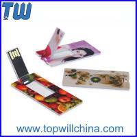 Wholesale Promotion Slim Card USB Flashdrives High Quality Best Service from china suppliers