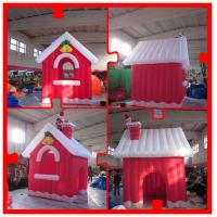 Wholesale 4m Oxford Inflatable Christmas House with Santa on Chimney for Christmas from china suppliers