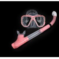 Wholesale Diving equipment high quality silicone diving mask set of underwater ventilation PE pipe Diving mask snorkel set from china suppliers