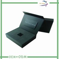 Wholesale Black Magnetic Gift Boxes With EVA Tray Paper Packaging , Decorative Gift Box from china suppliers