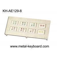 Wholesale Stainless steel Kiosk keypad with panel mount 8 keys , Metallic Keypad from china suppliers