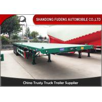 Wholesale BPW Axle 40ft Heavy Duty Flatbed Trailer With Super Single Tire Air Suspension from china suppliers