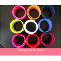 Wholesale promotion printed snap wristband/printing slap bracelet from china suppliers