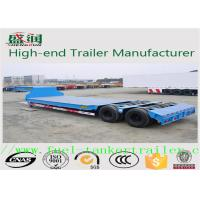 Quality Scraper Transporter 30 - 70 Tons Low Bed Semi Trailer , ISO Lowboy Semi Trailer for sale