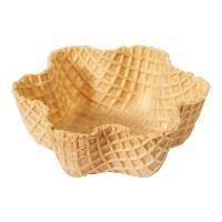 Wholesale CE Crispy Tart Chocolate Waffle Cones 92mm Caliber , Custon Size from china suppliers