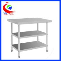 Wholesale 304  stainless steel commercial kitchen tables 3 layers durable from china suppliers