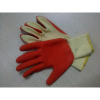 Wholesale Latex coated Cotton Yarn Safety Working Gloves For Garbage Collection cutting resistant safety glove from china suppliers
