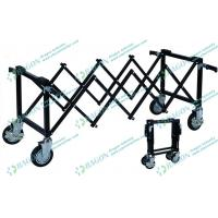 Iron Power Coated Funeral Equipment Foldable Church mortuary rolley with Wheels