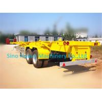 Buy cheap Green 2 Axles Tractor Trailer Trucks / Skeleton Container Diesel Transport Trailer from wholesalers