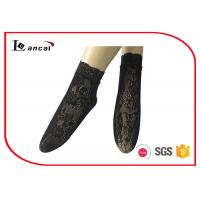Wholesale Black Short Nylon Socks Low Cut 92% Nylon 8% Spandex For Ladies from china suppliers