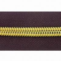 Buy cheap Nylon open end zipper with golden teeth from wholesalers