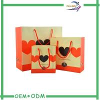 Wholesale Colorful Printed Ribbon Collapsible Shopping Bag with Cotton Handle from china suppliers